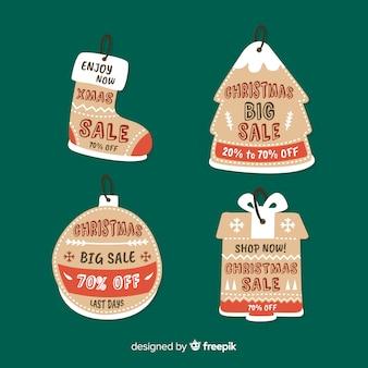 Weihnachtsverkauf-Tag-Sammlung