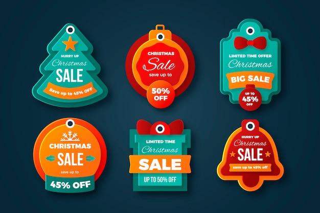 Weihnachtsverkauf tag-sammlung