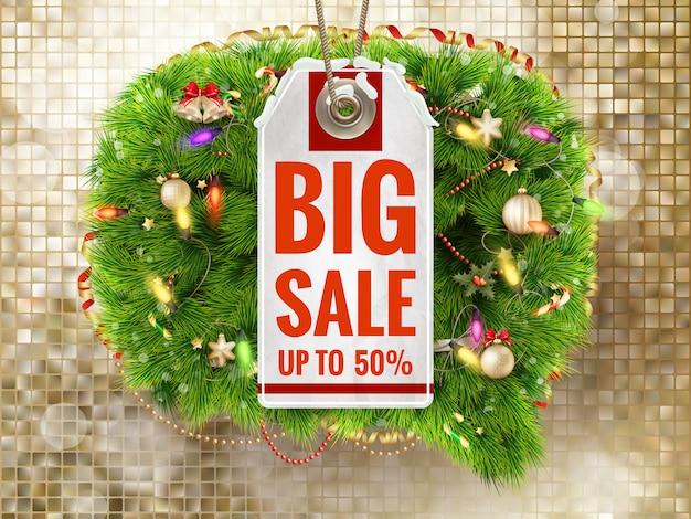 Weihnachtsverkauf tag.