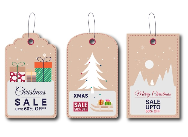 Weihnachtsverkauf tags sammlung