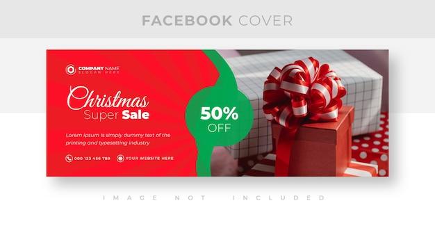 Weihnachtsverkauf und rabatt-facebook-cover-design
