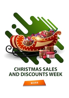 Weihnachtsverkauf und rabattwoche illustration