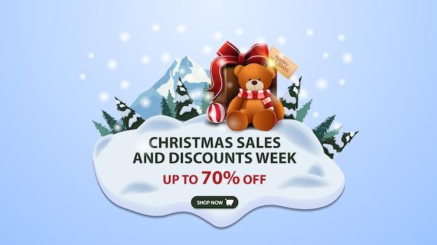 Weihnachtsverkauf und rabattwoche