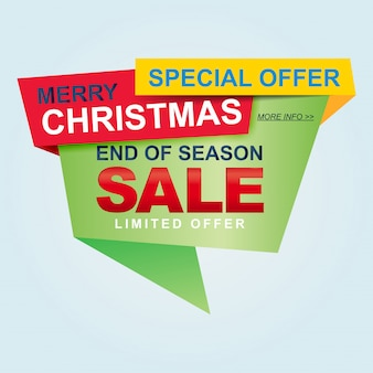 Weihnachtsverkauf und saisonale rabattvorlagen, banner. großer abverkauf, räumung. verkaufsfahnen-schablonendesign.