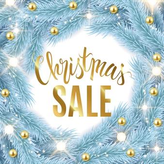 Weihnachtsverkaufs-anzeigen-fahnendesign