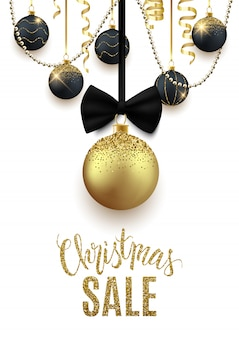 Weihnachtsverkaufs-anzeigenfahne, rabatt