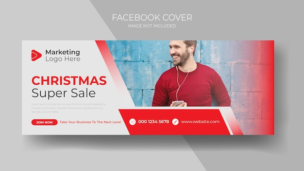 Weihnachtsverkaufs-banner-vorlage horizontale weihnachtsplakate-karten-header-website