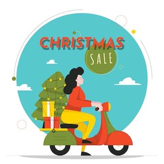 Weihnachtsverkaufs-illustration