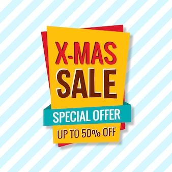 Weihnachtsverkaufs-karten-plakat