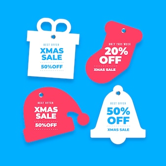 Weihnachtsverkaufs-markensammlung in der papierart