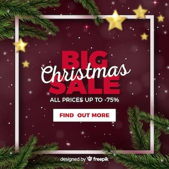 Weihnachtsverkaufs-netzfahne