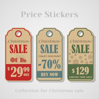Weihnachtsverkaufs-tags
