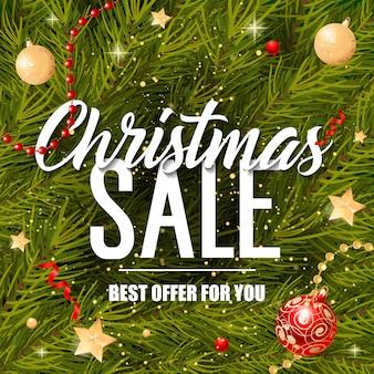 Weihnachtsverkaufsangebot für sie schriftzug