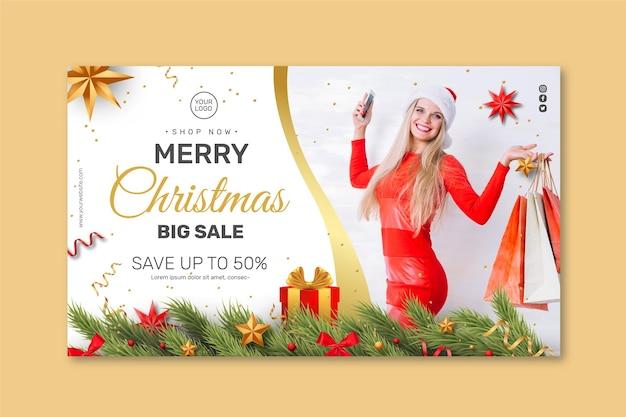 Weihnachtsverkaufsbanner-konzept