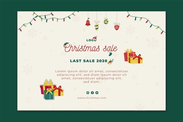 Weihnachtsverkaufsbannerschablone