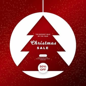 Weihnachtsverkaufskonzept im flachen design
