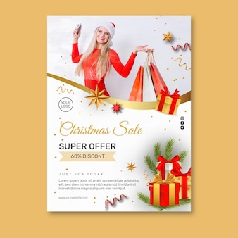 Weihnachtsverkaufsplakat a4