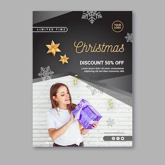 Weihnachtsverkaufsplakatschablone