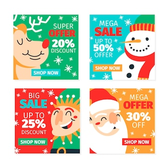 Weihnachtsverkaufssammlung instagram beitrag