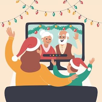 Weihnachtsvideo der familie