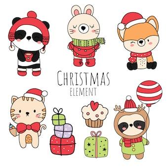 Weihnachtswald, weihnachtstier.