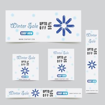 Weihnachtswinter-verkaufsanzeigen-fahnen-website-e-commerce-geschäft