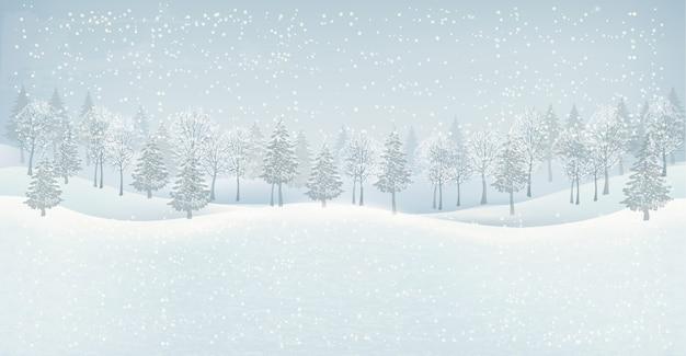 Weihnachtswinterlandschaftshintergrund.