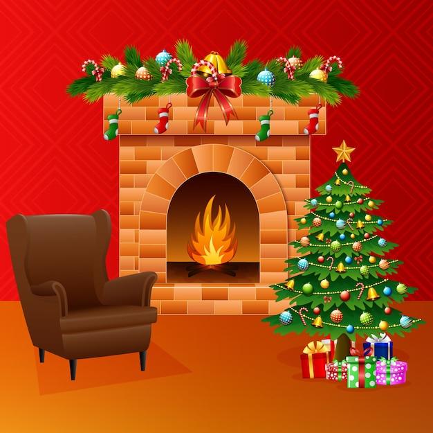 Weihnachtswohnzimmer