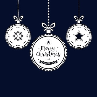 Weihnachtswunsch verziert den goldenen flitter, der blauen hintergrund hängt