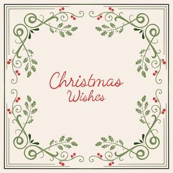 Weihnachtswunschkarten-designvektor