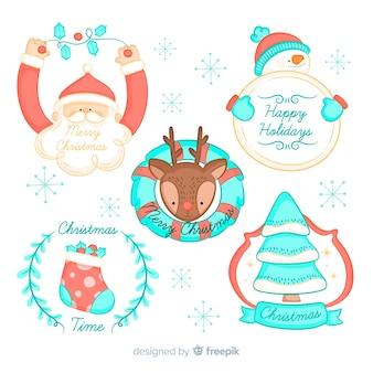 Weihnachtszeichen abzeichen sammlung