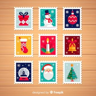 Weihnachtszeichen-elemente packen