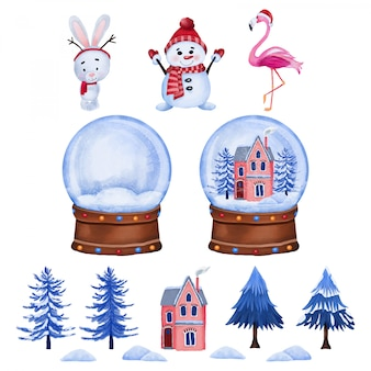 Weihnachtszeichen und glaskugel