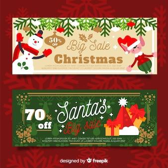 Weihnachtszeichen verkauf banner