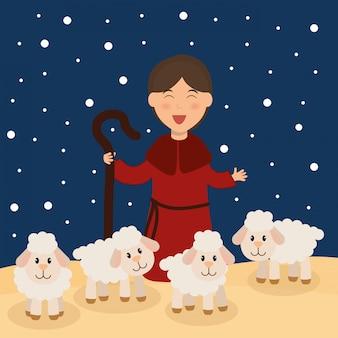Weihnachtszeit-karikatur-grafikdesign