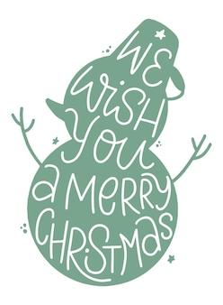 Weihnachtszitat in schneemann-silhouette geschrieben