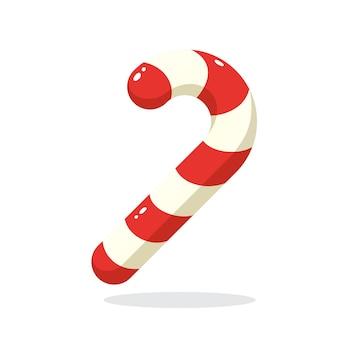 Weihnachtszuckerstange santas streifen stock vektor-illustration