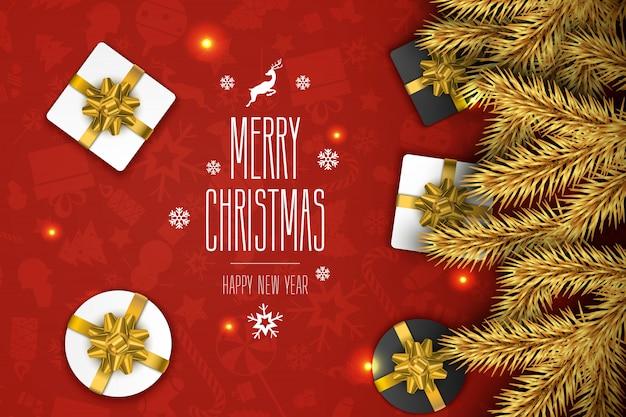 Weihnachtszusammensetzung grußkarte