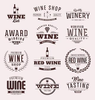Wein abzeichen sammlung