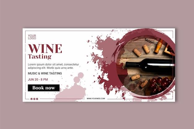 Wein banner vorlage