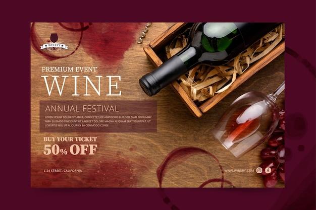 Wein banner vorlage Kostenlosen Vektoren