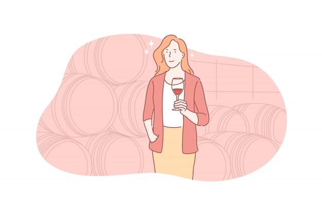 Wein, degustation, kellereikonzept