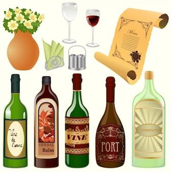 Wein design-elemente