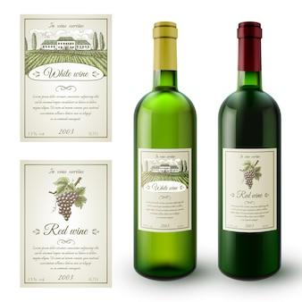 Wein-etiketten-set