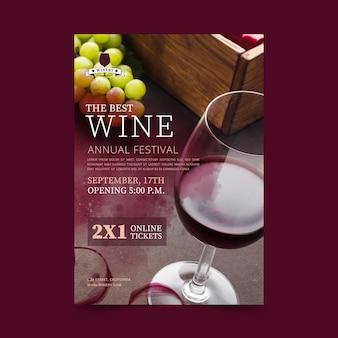 Wein flyer vorlage Kostenlosen Vektoren