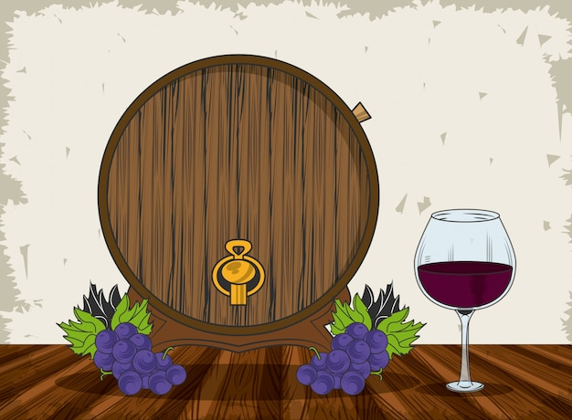 Wein-grunge-design