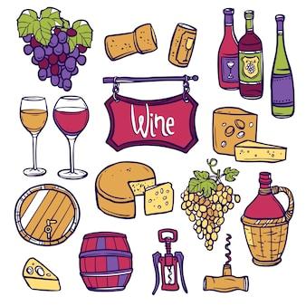 Wein-icon-set