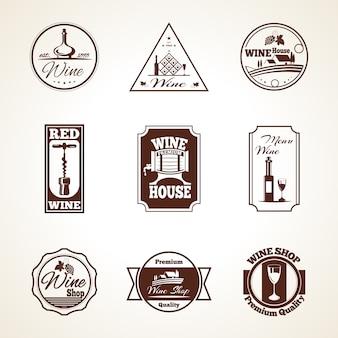 Wein-label-set