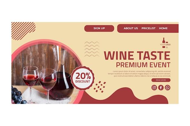Wein landing page vorlage