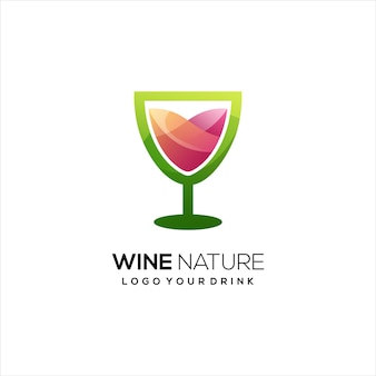 Wein logo bunte farbverlauf abstrakt